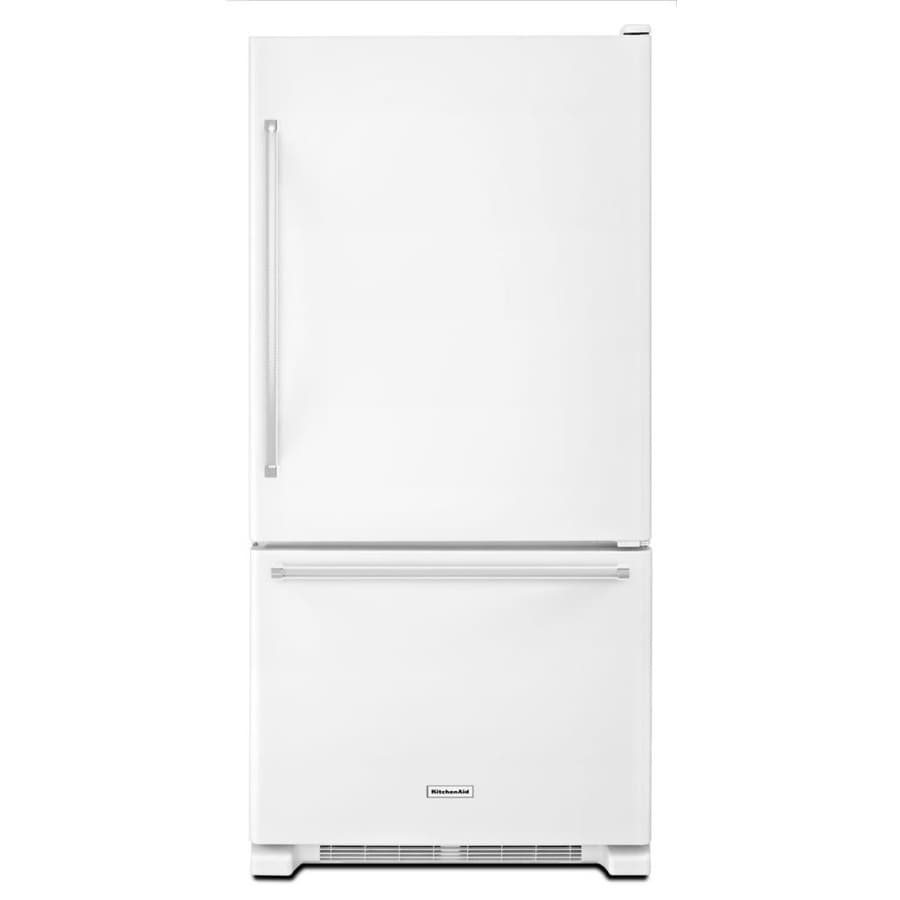 KitchenAid 18.67-cu ft Bottom-Freezer Refrigerator (White) ENERGY STAR