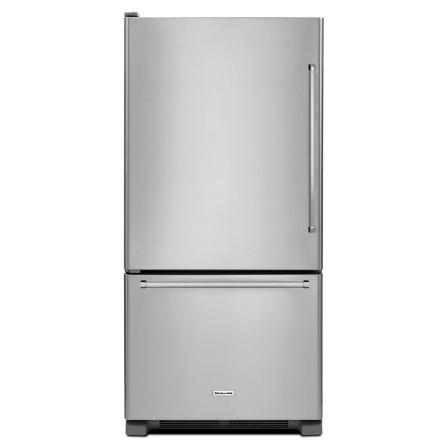 KitchenAid 18.67-cu ft Bottom-Freezer Refrigerator (Stainless Steel) ENERGY STAR