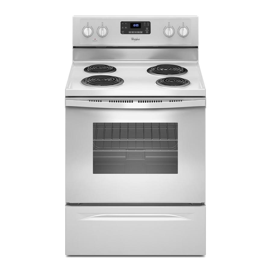 Whirlpool Freestanding 4 4.8-cu ft Electric Range (White) (Common: 30-in; Actual: 29.875-in)