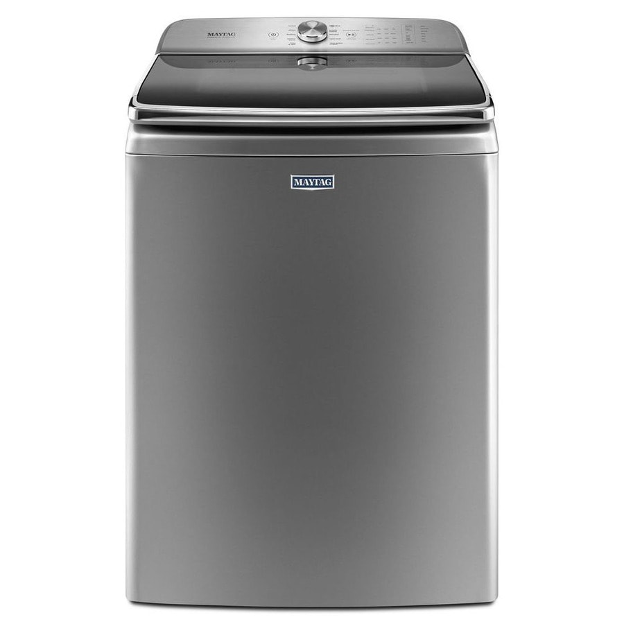 Maytag 6.2-cu ft High-Efficiency Top-Load Washer (Chrome Shadow) ENERGY STAR