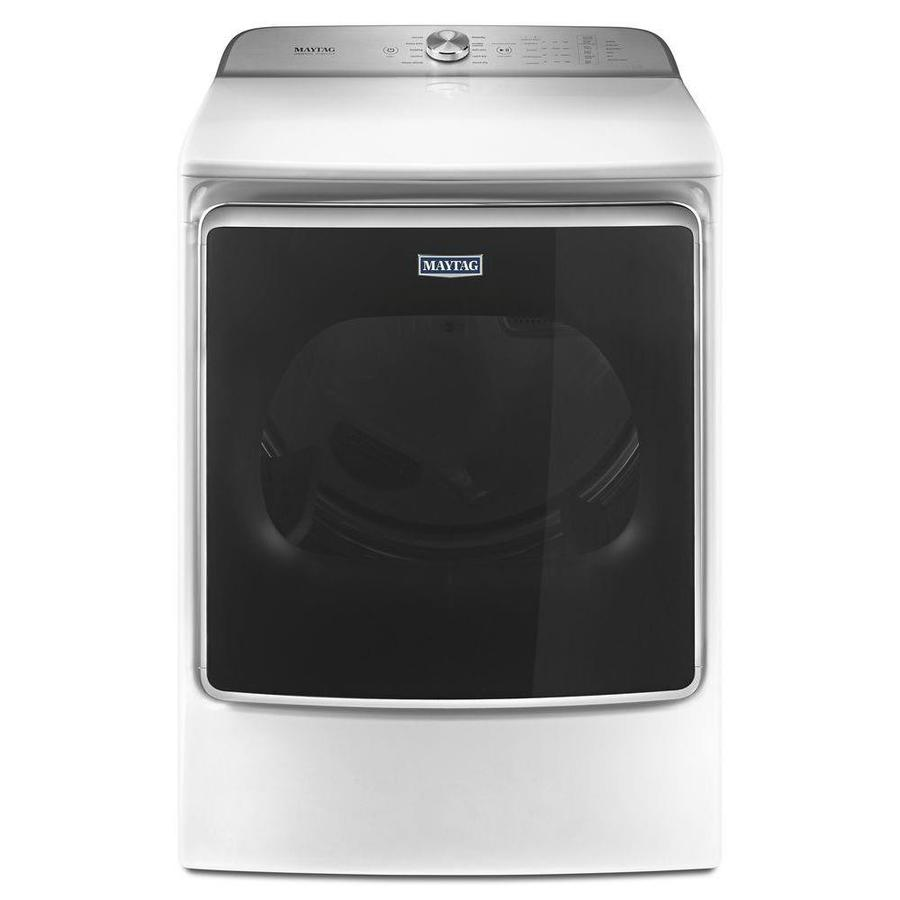 Maytag 9.2-cu ft Electric Dryer Steam Cycle (White) ENERGY STAR