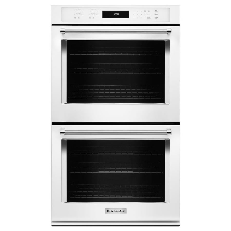 KitchenAid Self-Cleaning Convection Double Electric Wall Oven (White) (Common: 27-in; Actual: 27-in)