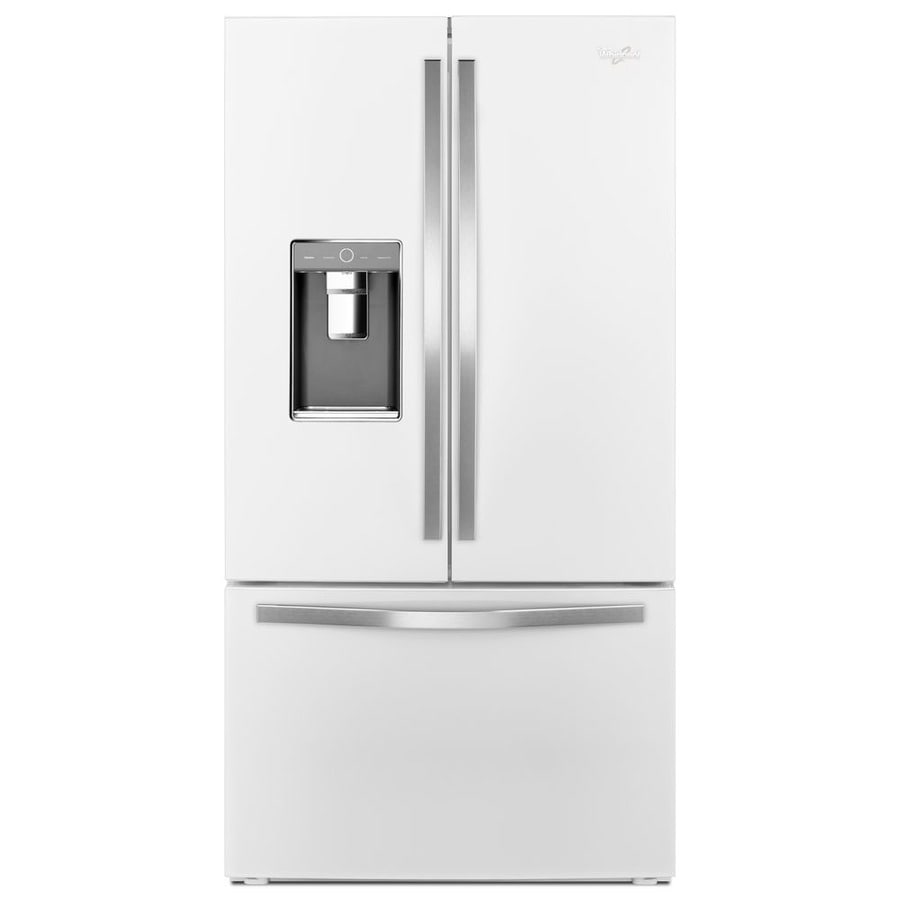 Whirlpool 31.5-cu ft French Door Refrigerator with Ice Maker (White Ice) ENERGY STAR