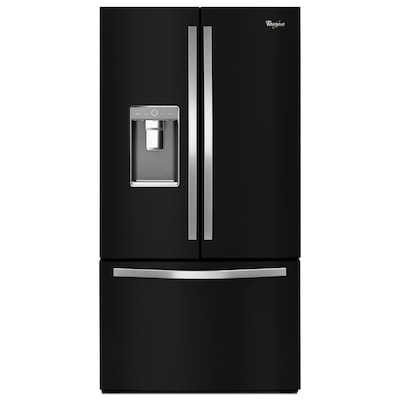 31 5 Cu Ft French Door Refrigerator With Ice Maker Black Energy Star