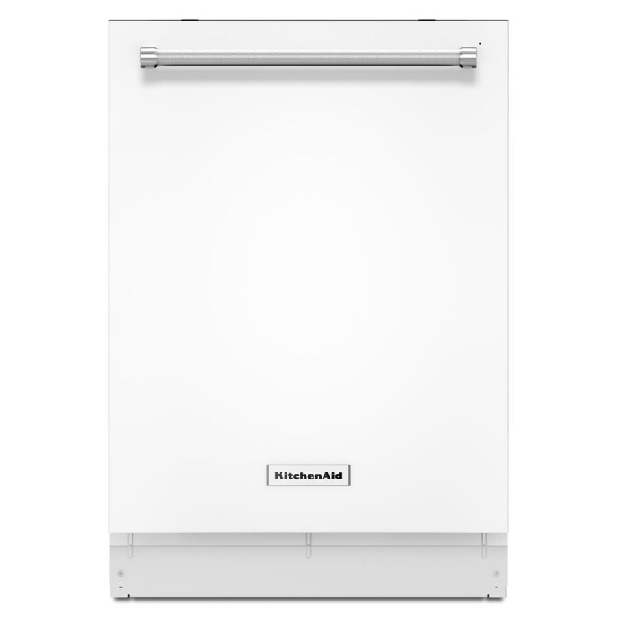 KitchenAid 46-Decibel Built-in Dishwasher (White) (Common: 24-in; Actual: 23.875-in) ENERGY STAR