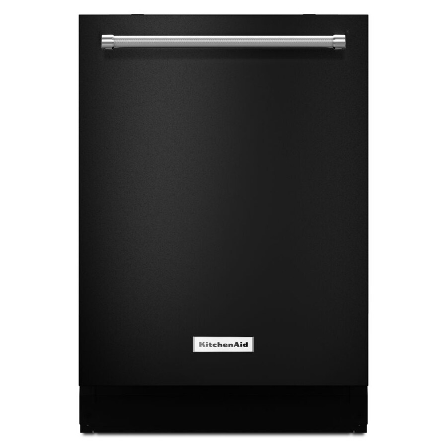 KitchenAid 46-Decibel Built-In Dishwasher (Black) (Common: 24-in; Actual: 23.875-in) ENERGY STAR