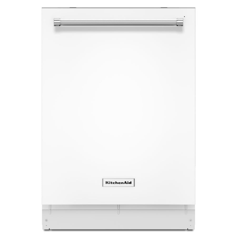 KitchenAid 39-Decibel Built-In Dishwasher (White) (Common: 24-in; Actual: 23.875-in) ENERGY STAR