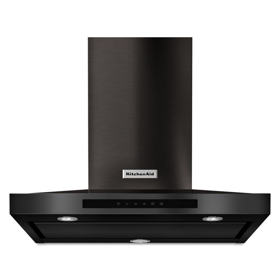 KitchenAid Convertible Wall-Mounted Range Hood (Black Stainless Steel) (Common: 30-in; Actual: 30-in)