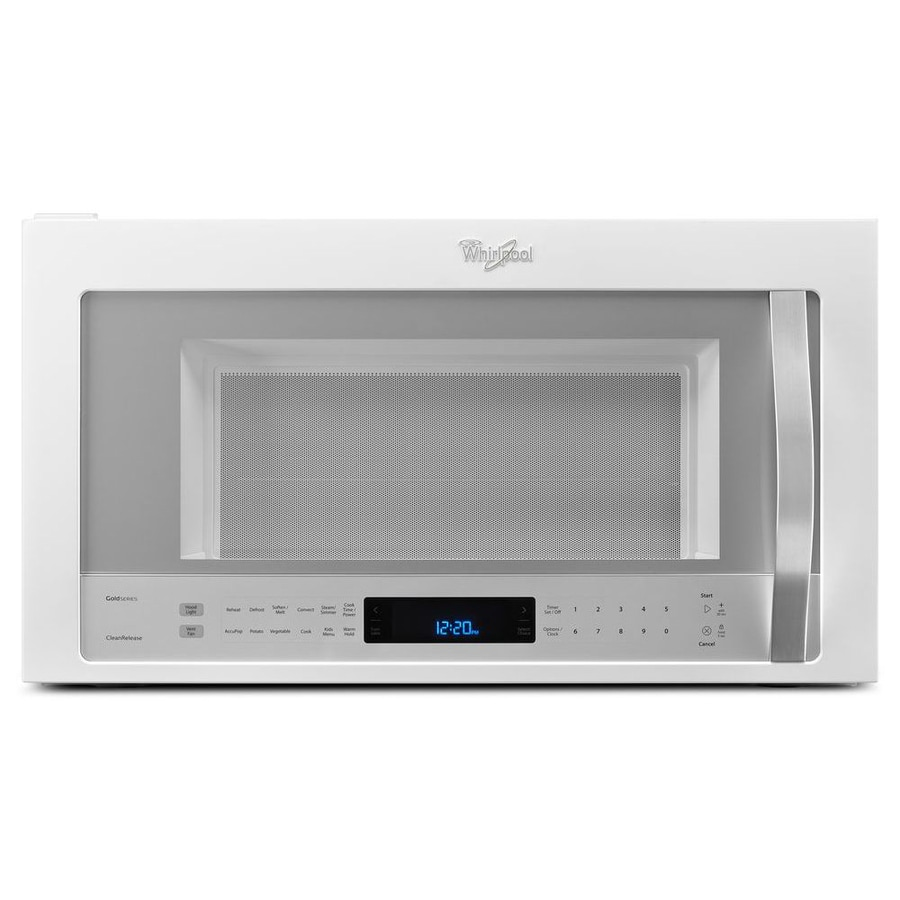 Whirlpool white ice line - Whirlpool 1 9 Cu Ft Over The Range Convection Microwave With Sensor Cooking Controls