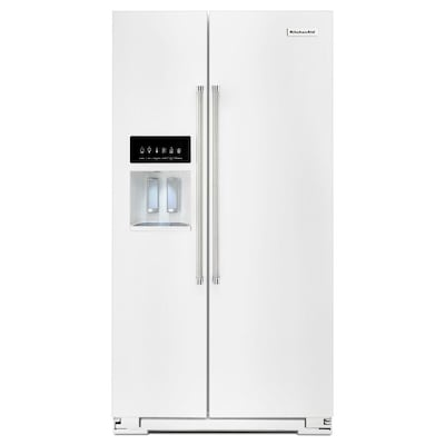 24.8-cu ft Side-by-Side Refrigerator with Ice Maker (White) ENERGY STAR