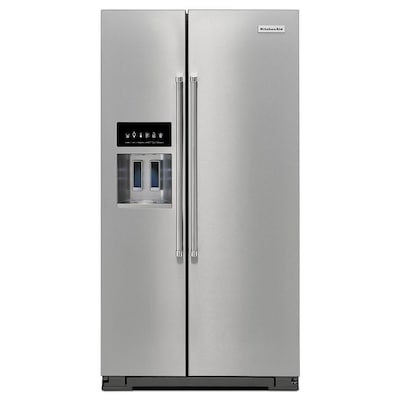 24.8-cu ft Side-by-Side Refrigerator with Ice Maker (Stainless Steel)  ENERGY STAR