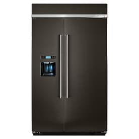 KitchenAid 29.5 Cu Ft Built In Side By Side Refrigerator With Ice