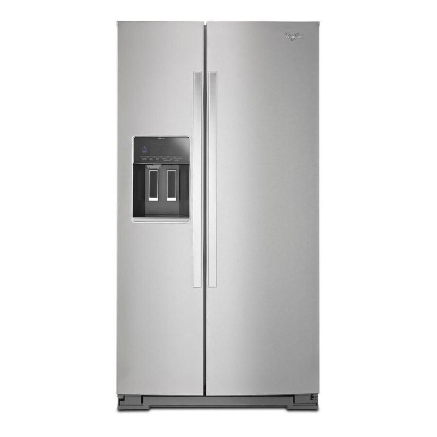 Whirlpool 25.6-cu ft Side-By-Side Refrigerator Single (Monochromatic Stainless Steel) ENERGY STAR