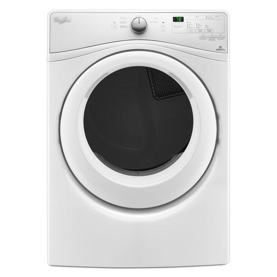 shop whirlpool 7 4 cu ft stackable gas dryer white at. Black Bedroom Furniture Sets. Home Design Ideas