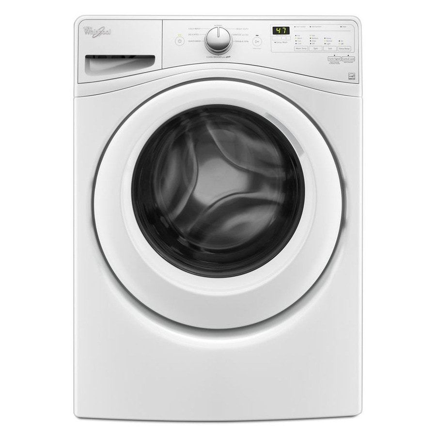 whirlpool 42cu ft stackable frontload washer white