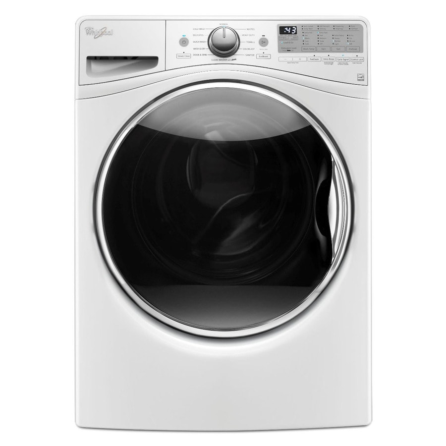 Whirlpool Load and Go 4.2-cu ft High-Efficiency Stackable Front-Load Washer with Steam Cycle (White) ENERGY STAR