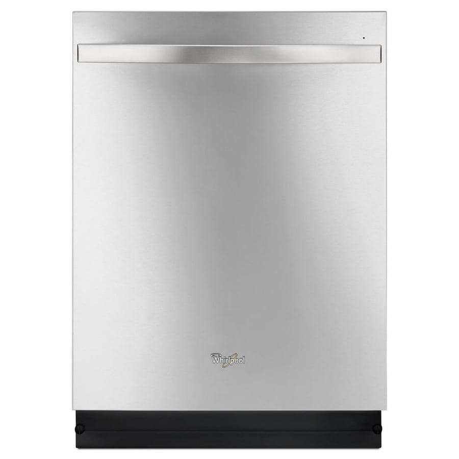 Whirlpool Gold 48-Decibel Built-in Dishwasher (Monochromatic Stainless Steel) (Common: 24-in; Actual: 24-in) ENERGY STAR