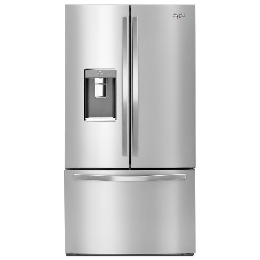 Whirlpool 31.5-cu ft French Door Refrigerator with Dual Ice Maker (Monochromatic Stainless Steel) ENERGY STAR