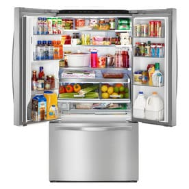 Whirlpool 31 5 Cu Ft French Door Refrigerator With Dual