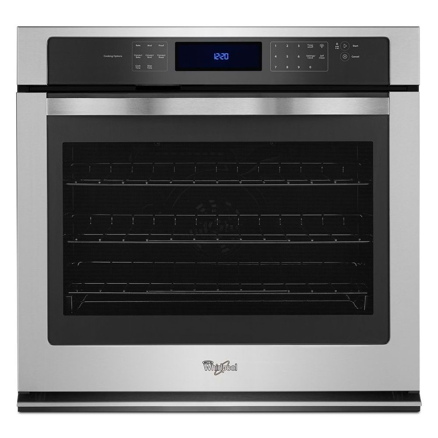 Whirlpool Convection Single Electric Wall Oven (Stainless Steel) (Common: 30-in; Actual 30-in)