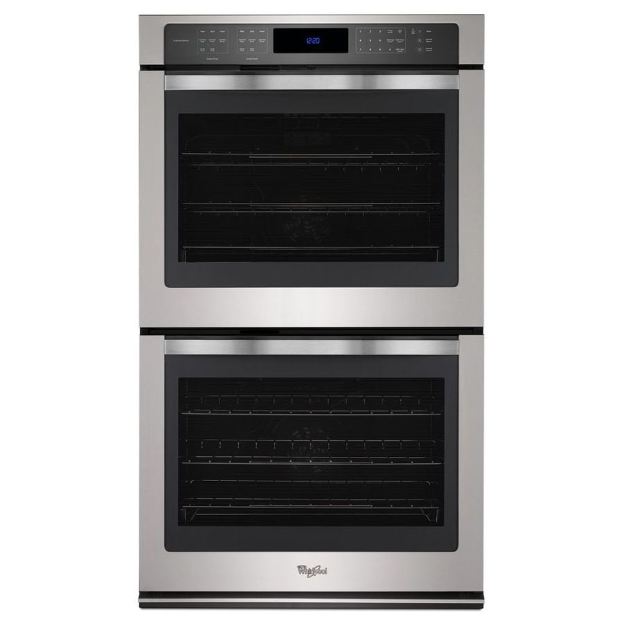 Whirlpool Self-Cleaning Convection Double Electric Wall Oven Single-Fan (Stainless Steel) (Common: 30-in; Actual: 30-in)