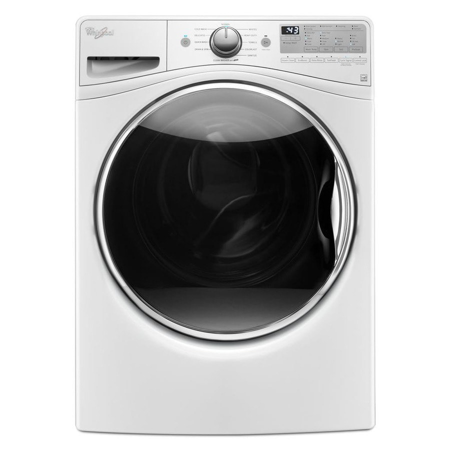 Whirlpool Fanfresh 4.5-cu ft High-Efficiency Stackable Front-Load Washer Steam Cycle (White) ENERGY STAR