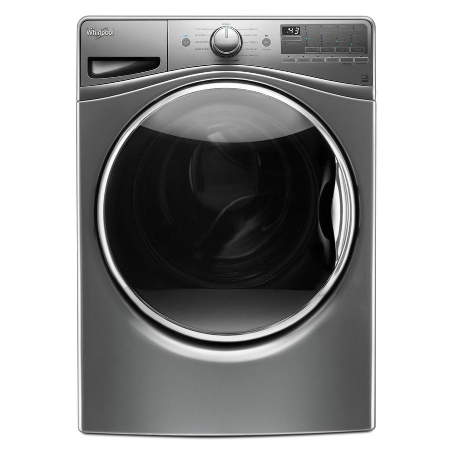 Whirlpool FanFresh 4.5-cu ft High-Efficiency Stackable Front-Load Washer with Steam Cycle (Chrome Shadow) ENERGY STAR