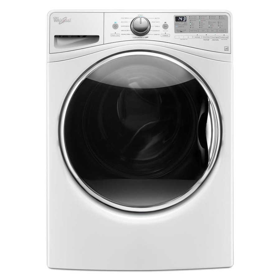 Whirlpool Load and Go 4.5-cu ft High-Efficiency Stackable Front-Load Washer with Steam Cycle (White) ENERGY STAR