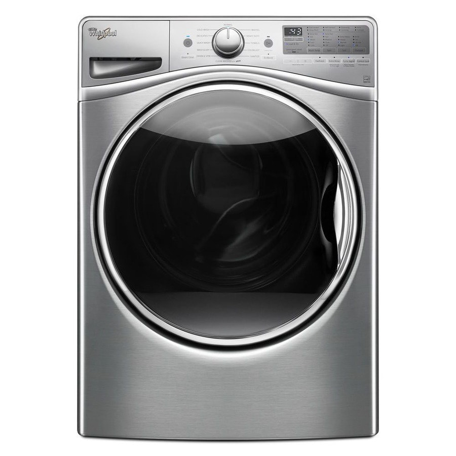 Whirlpool Load and Go 4.5-cu ft High-Efficiency Stackable Front-Load Washer with Steam Cycle (Diamond Steel) ENERGY STAR