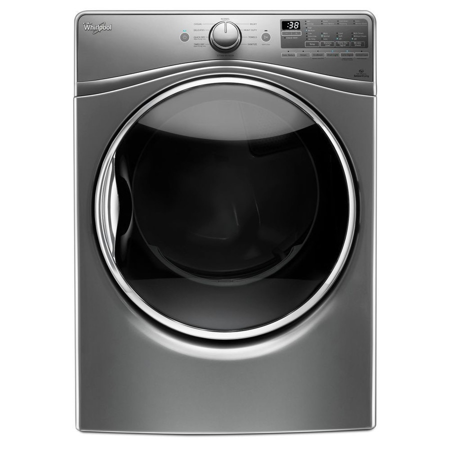 Whirlpool 7.4-cu ft Stackable Electric Dryer with Steam Cycle (Chrome Shadow) ENERGY STAR