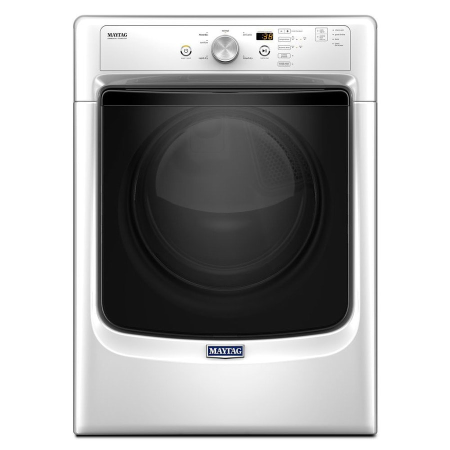 Maytag 7 4 Cu Ft Stackable Electric Dryer White Energy