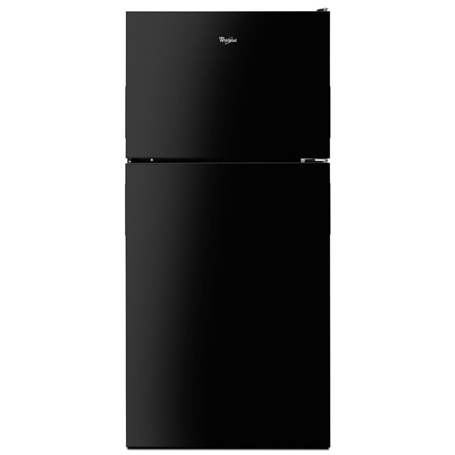 Whirlpool 18.2-cu ft Top-Freezer Refrigerator with Ice Maker (Black) ENERGY STAR