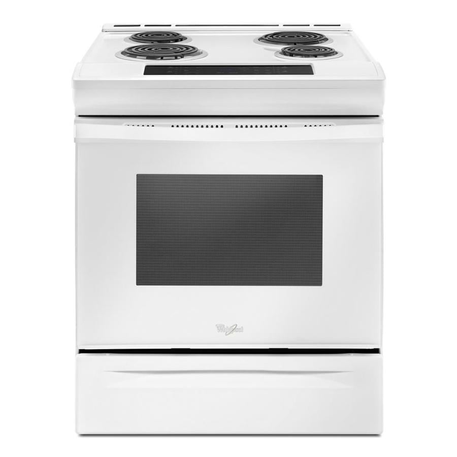 Whirlpool 4-Element Slide-in Electric Range (White) (Common: 30-in; Actual 29.875-in)