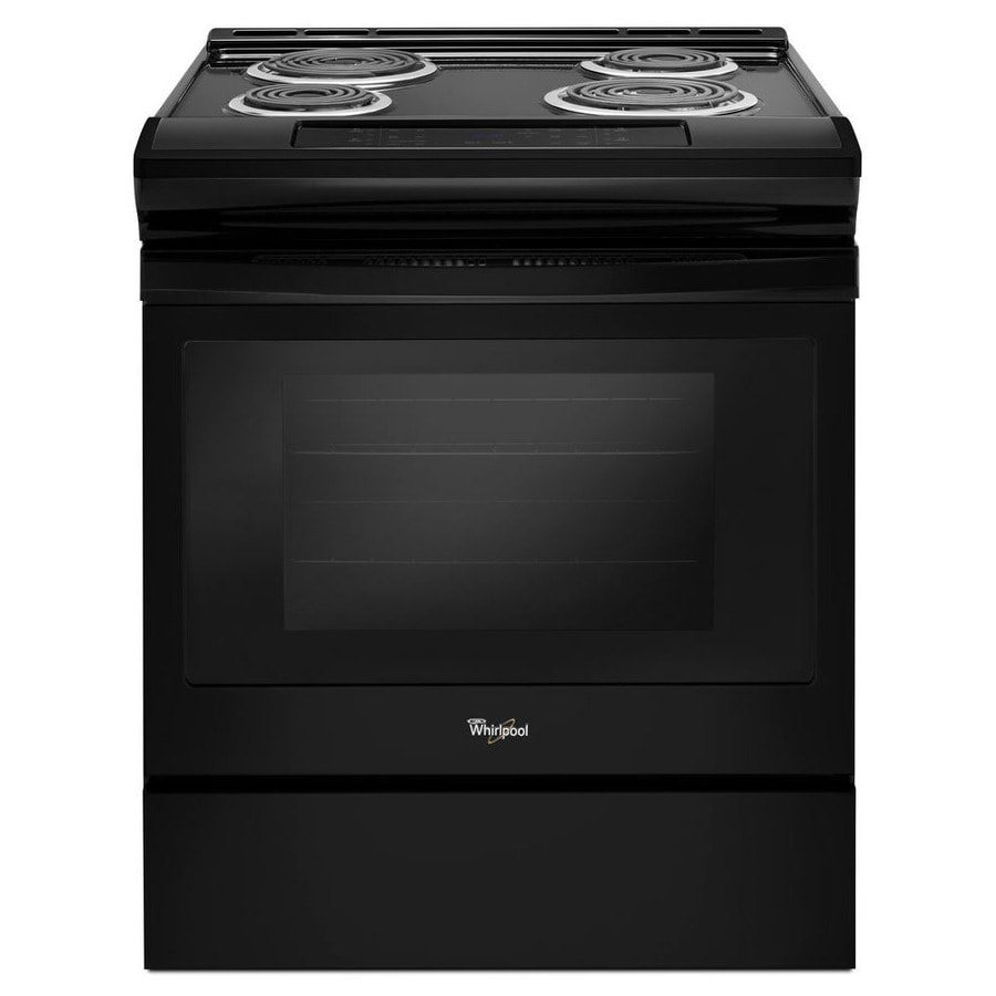 Whirlpool Coil Surface Self-cleaning Slide-In Electric Range (Black) (Common: 30-in; Actual 29.875-in)