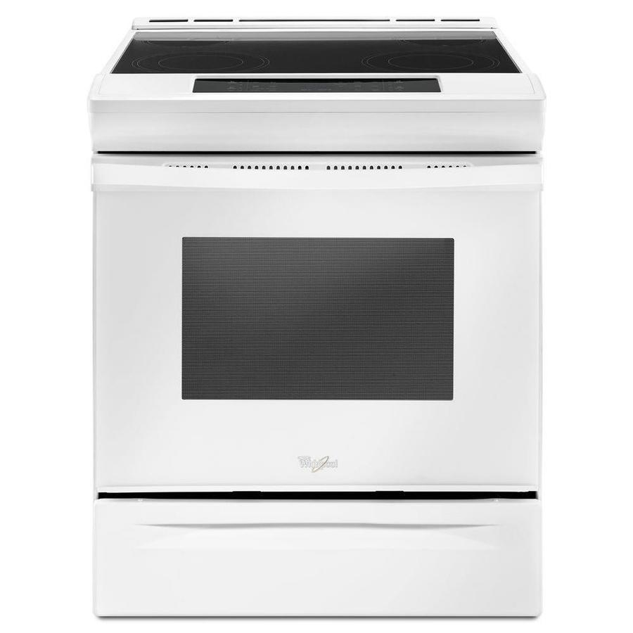 Whirlpool Smooth Surface Self-Cleaning Slide-in Electric Range (White) (Common: 30-in; Actual 29.875-in)
