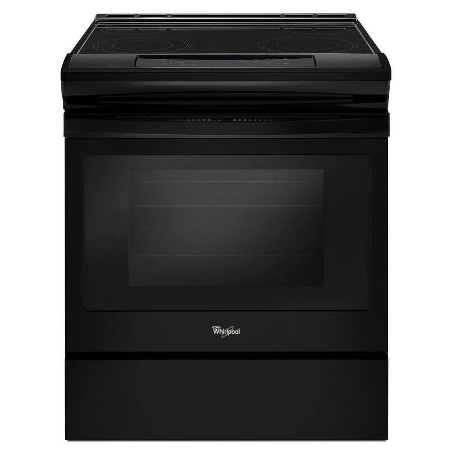 shop whirlpool smooth surface self cleaning slide in electric range black common 30 in. Black Bedroom Furniture Sets. Home Design Ideas