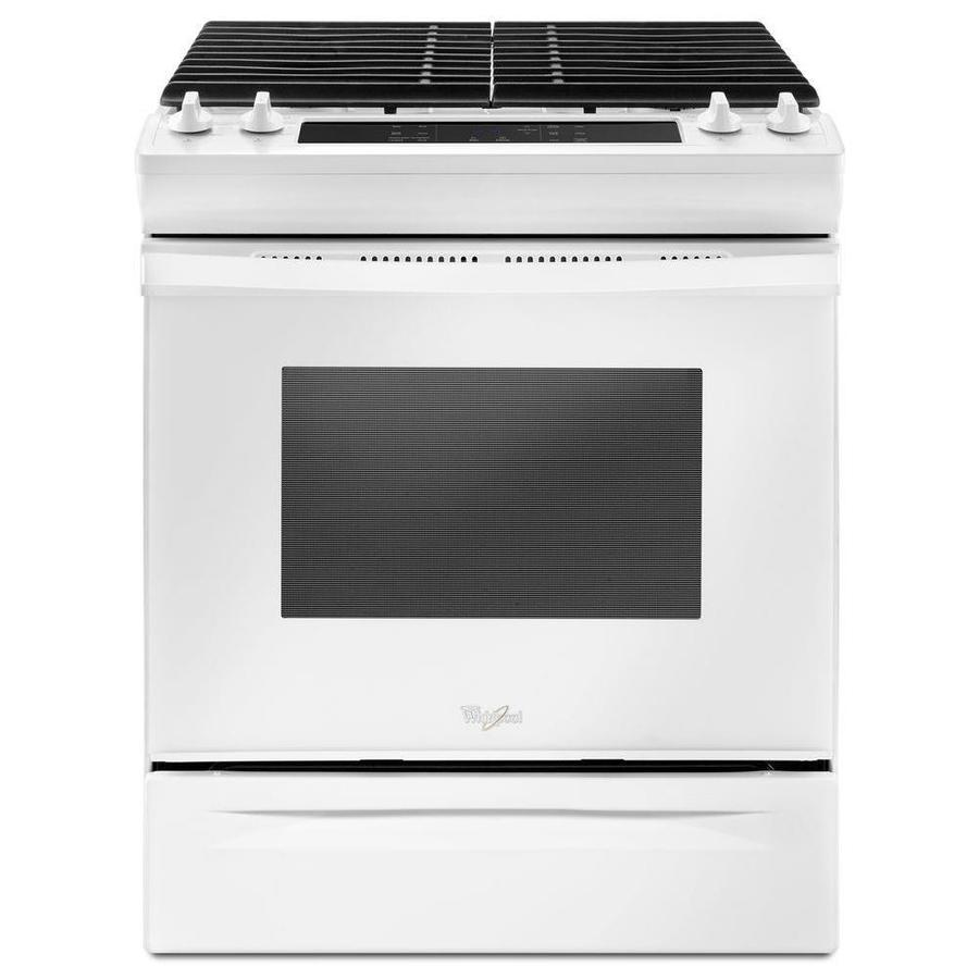 Whirlpool 4-Burner 5-cu ft Slide-in Gas Range (White) (Common: 30-in; Actual 29.875-in)
