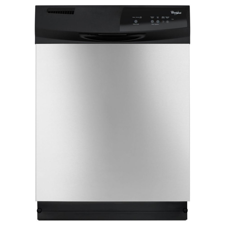 Whirlpool 63-Decibel Built-In Dishwasher (Stainless Steel) (Common: 24-in; Actual: 23.875-in)