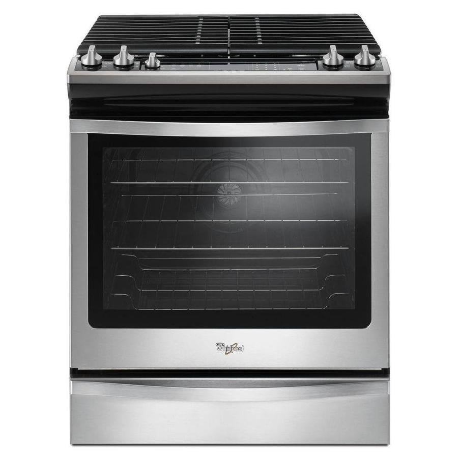 Shop Whirlpool 5-Burner 5.8-cu ft Self-cleaning Slide-In Convection ...