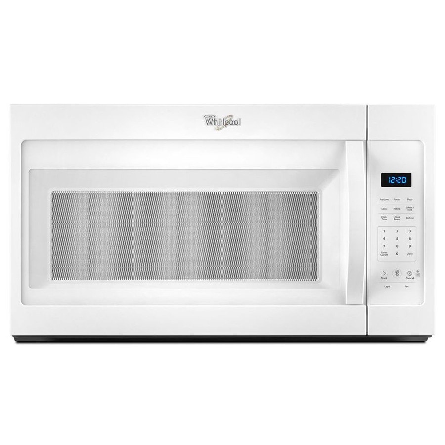 Lowes microwaves over the range white - Whirlpool 1 7 Cu Ft Over The Range Microwave White Common