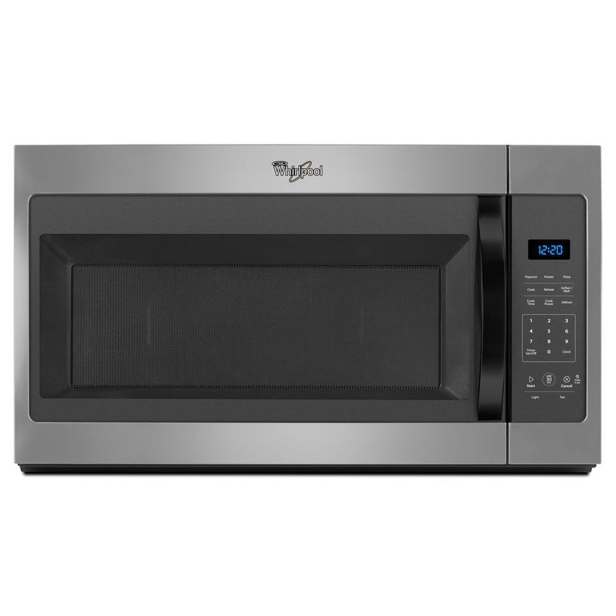 Whirlpool 1.7-cu ft Over-the-Range Microwave (Silver) (Common: 30-in; Actual: 30-in)