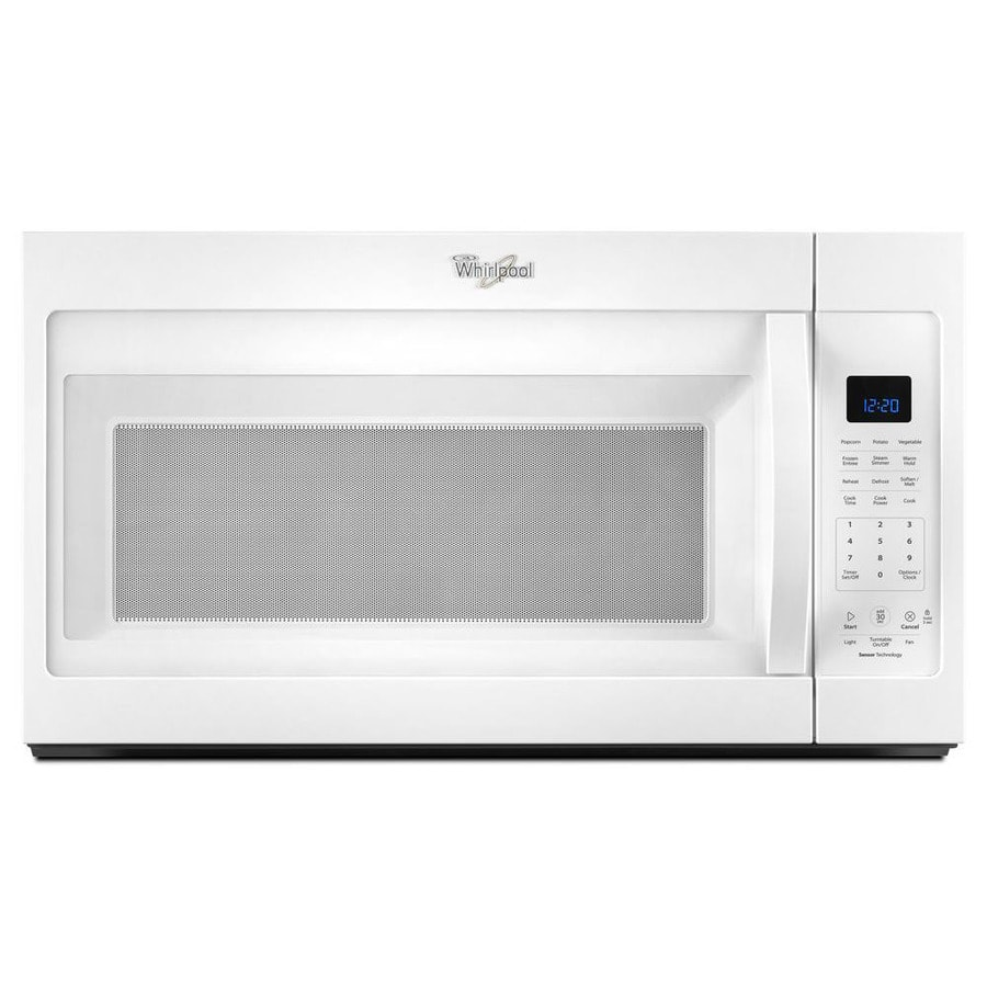 Whirlpool 1.9-cu ft Over-the-Range Microwave with Sensor Cooking Controls (White) (Common: 30-in; Actual: 30-in)