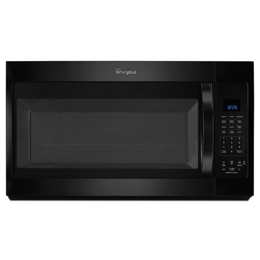Whirlpool 1.9-cu ft Over-the-Range Microwave with Sensor Cooking Controls (Black) (Common: 30-in; Actual: 30-in)