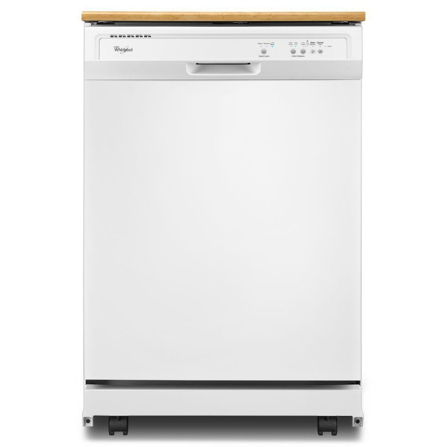 Whirlpool 24.125-in 55-Decibel Portable Dishwasher (White)