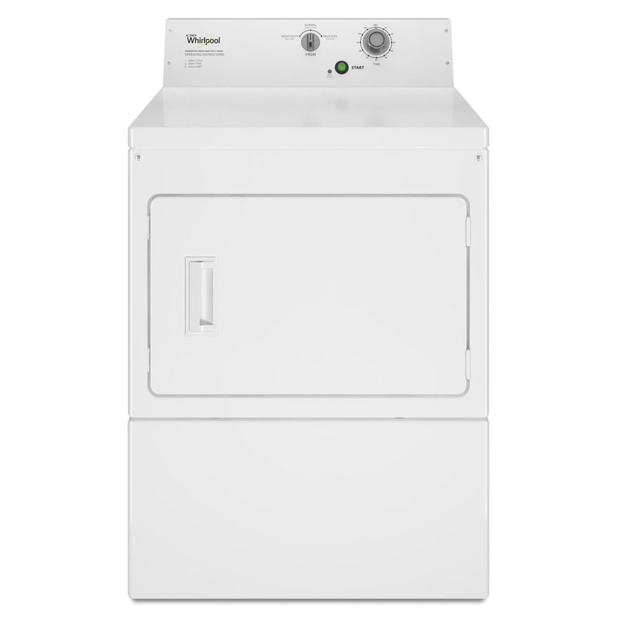 Whirlpool Commercial 7.4-cu ft Electric Commercial Dryer (White)
