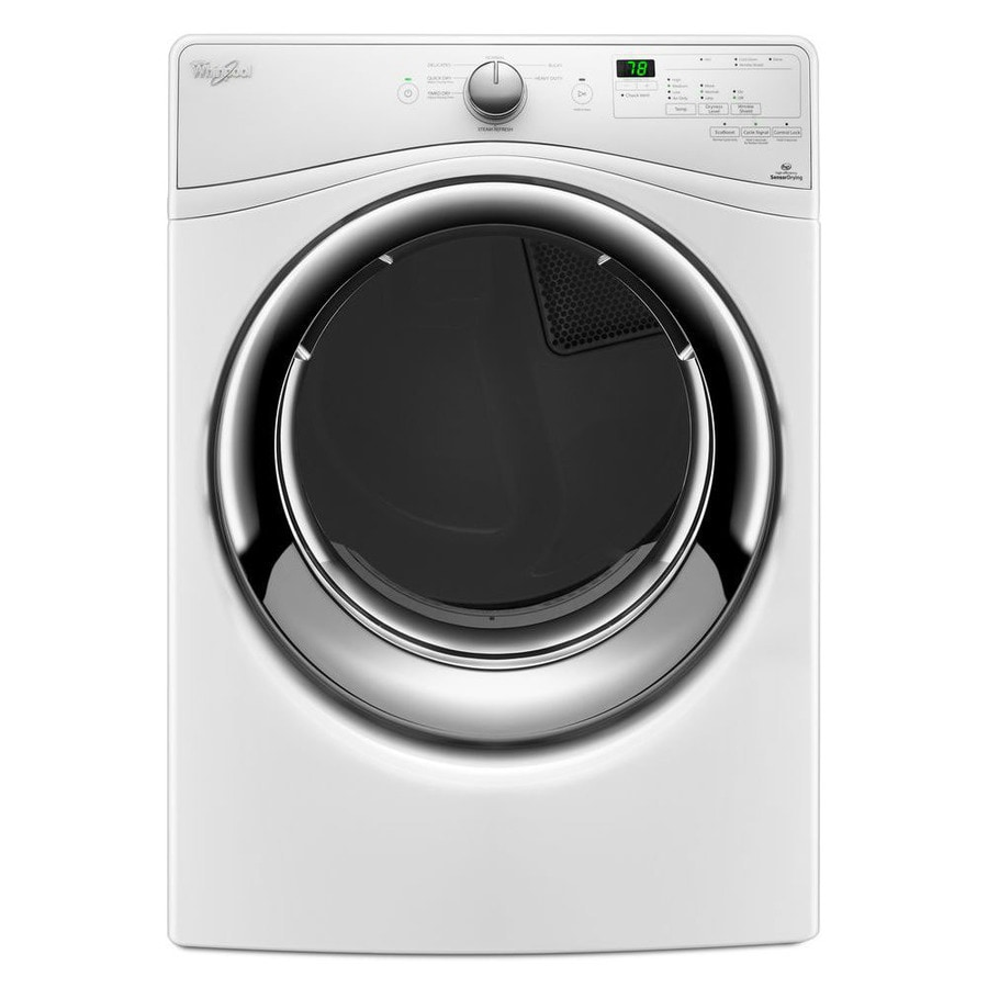 whirlpool 74cu ft stackable electric dryer white energy star