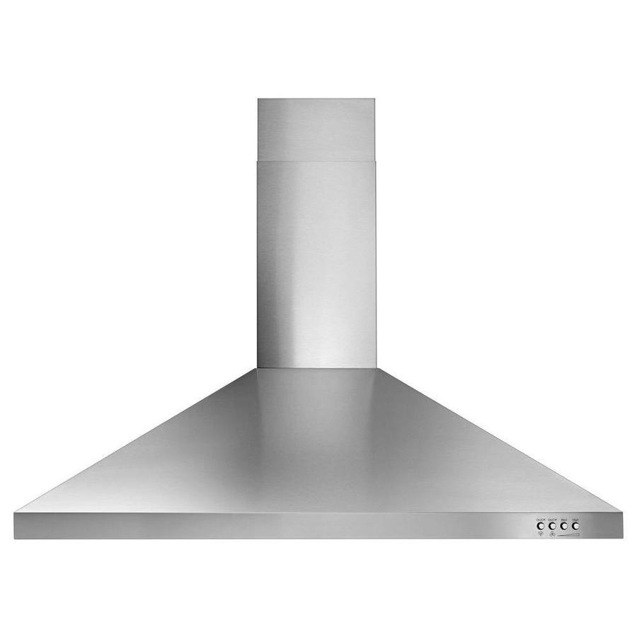 Whirlpool Convertible Wall-Mounted Range Hood (Stainless Steel 36-in; Actual 36-in)