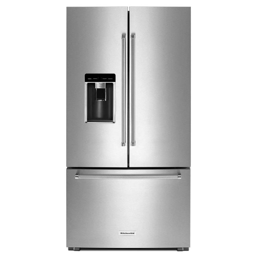 Shop Kitchenaid 23 8 Cu Ft Counter Depth French Door