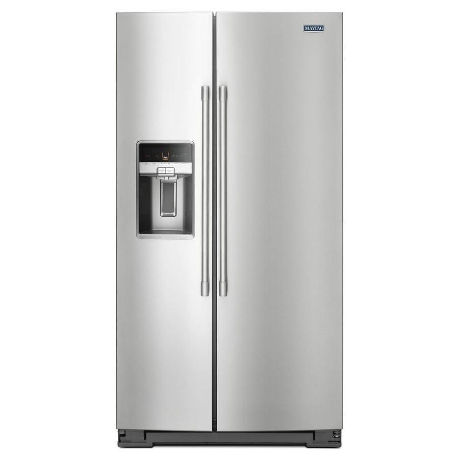 Maytag 20 6 Cu Ft Counter Depth Side By Side Refrigerator