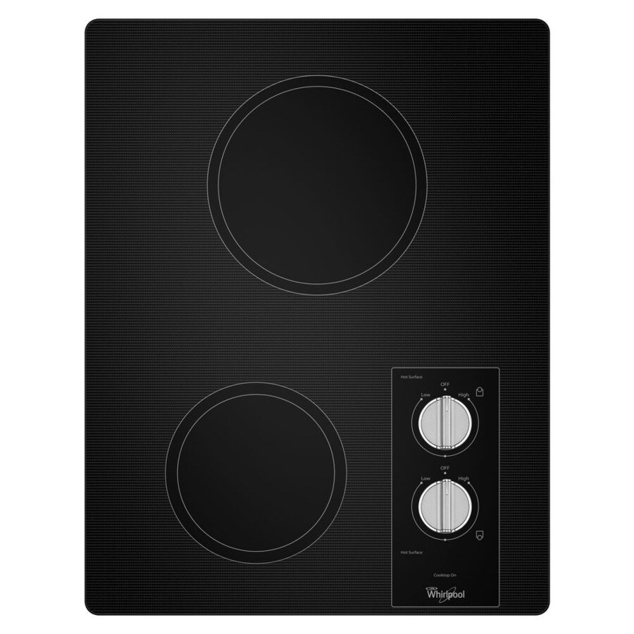 Whirlpool Smooth Surface Electric Cooktop (Black) (Common: 15-in; Actual 16.56-in)